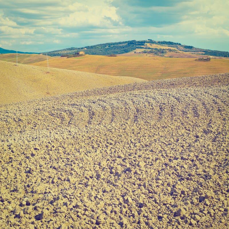 вспаханные холмы стоковое фото