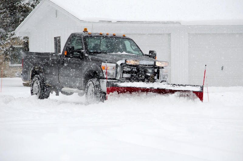 Вспахивать снежок стоковая фотография rf