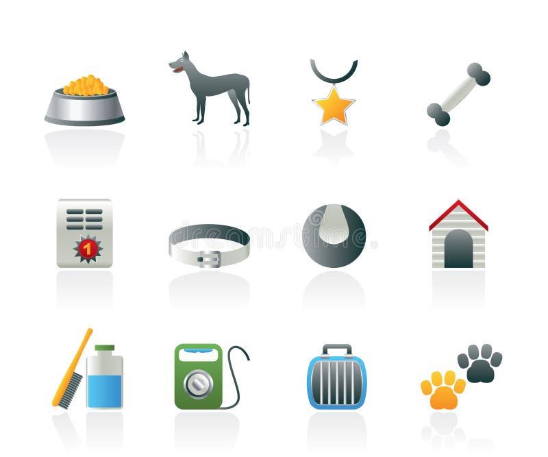 вспомогательные символы икон собаки бесплатная иллюстрация