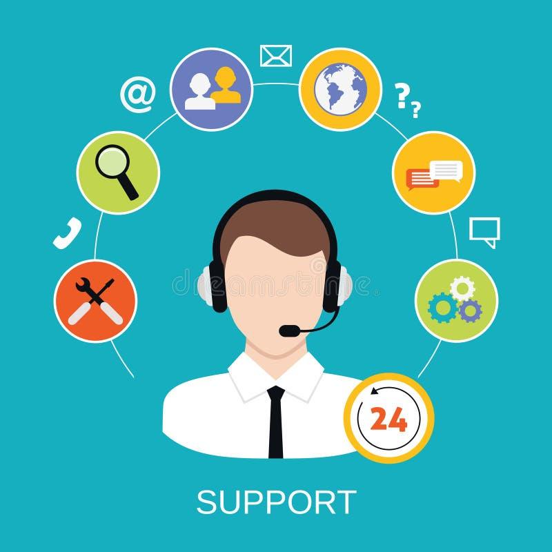 Вспомогательное обслуживание работы с клиентом бесплатная иллюстрация