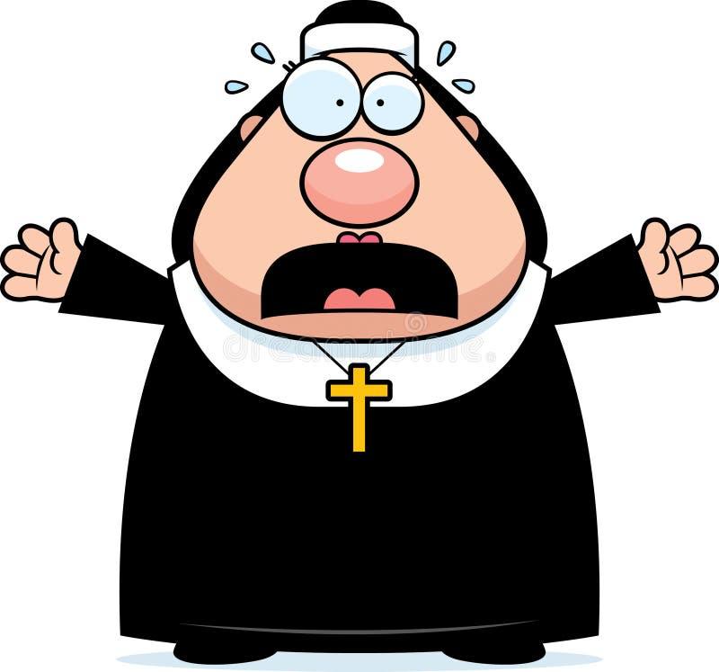 Вспугнутая монашка шаржа бесплатная иллюстрация