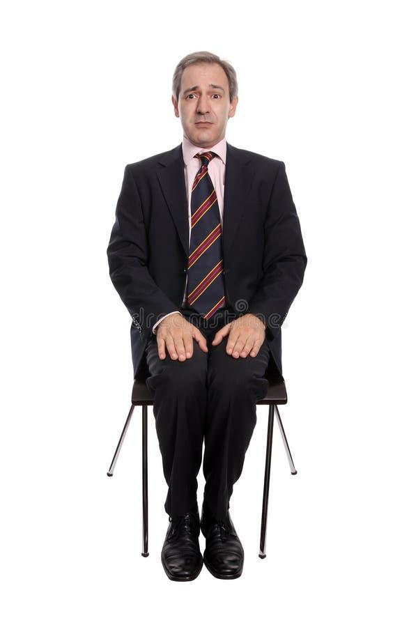 вспугнутый бизнесмен стоковая фотография