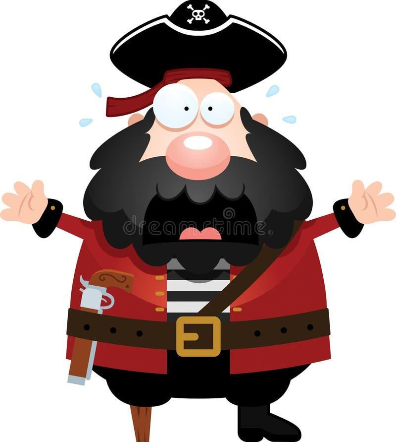 Вспугнутый пират шаржа бесплатная иллюстрация