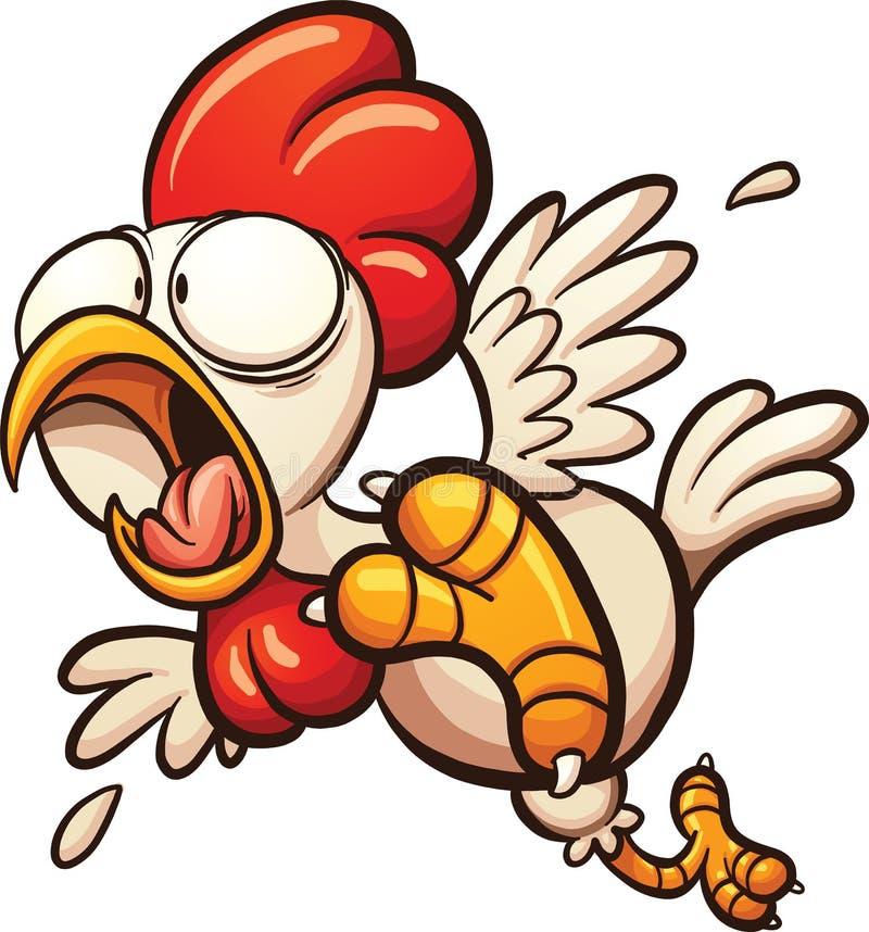 Вспугнутый цыпленок шаржа бесплатная иллюстрация