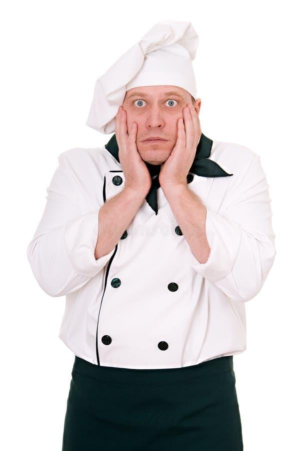 вспугнутый шеф-повар стоковое фото rf