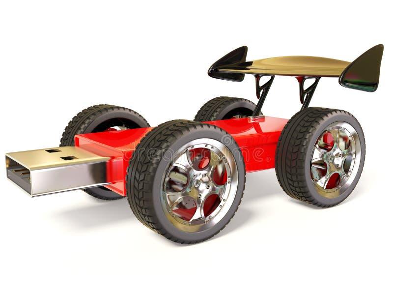 вспышка автомобиля иллюстрация вектора