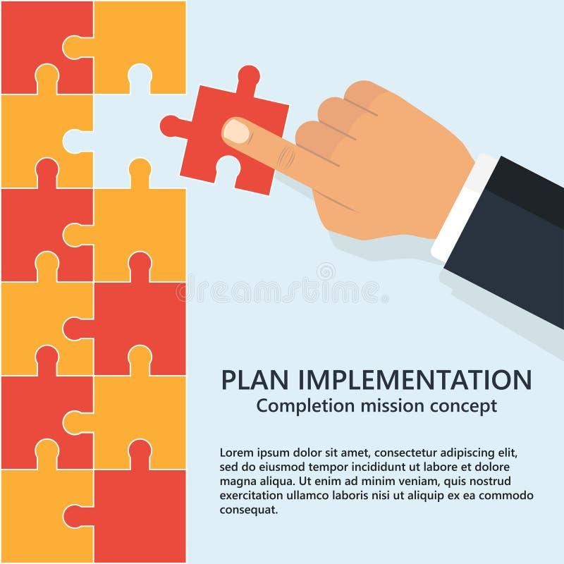 Вставка бизнес-плана вектор иллюстрация штока