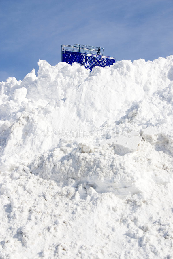 вставленный снежок стоковая фотография rf