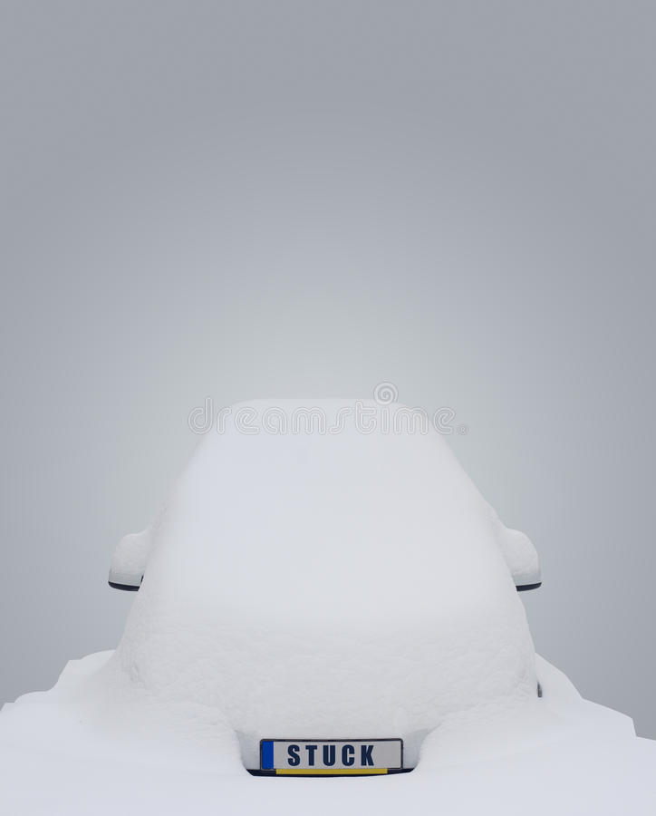 вставленный снежок автомобиля стоковые фото
