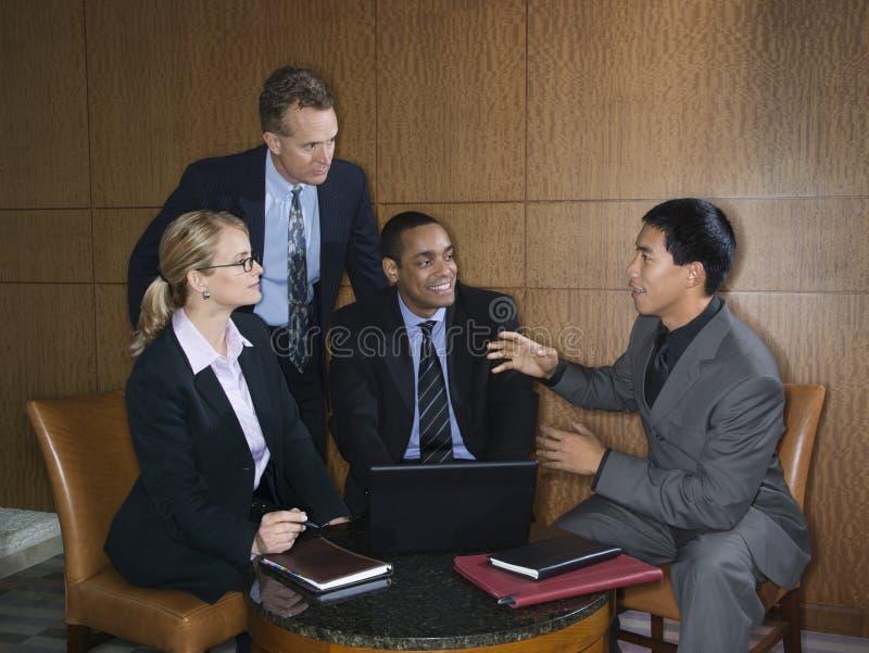 встречать предпринимателей стоковое изображение