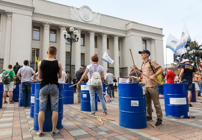 Встречать против коррупции в Киеве стоковое изображение