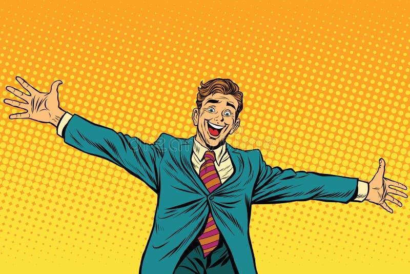 Встречать другие счастливые людей иллюстрация вектора