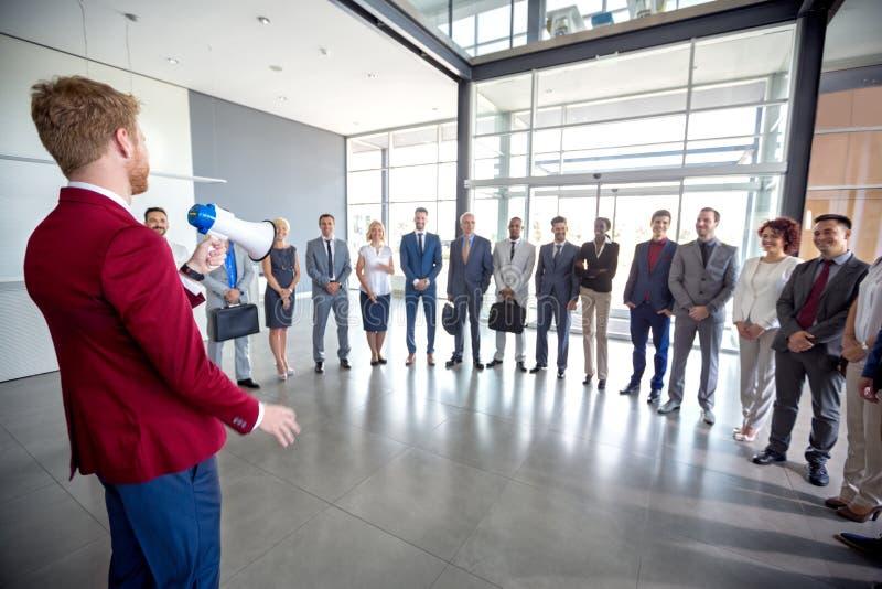 Встреча владением бизнесмена стоковое изображение rf
