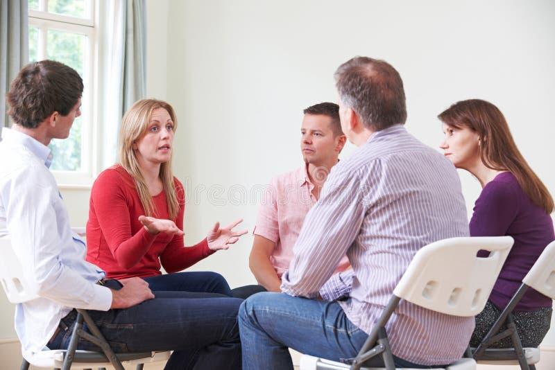 Встреча группа поддержкиы стоковое изображение