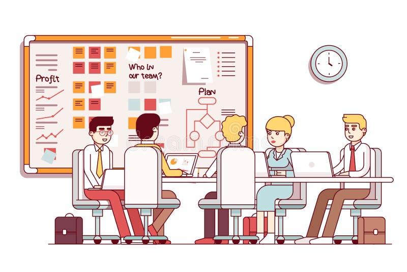 Встреча зала заседаний правления startup компании ИТ исполнительная бесплатная иллюстрация