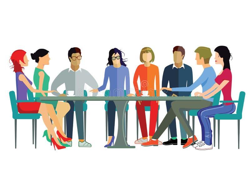 Встреча команды иллюстрация штока