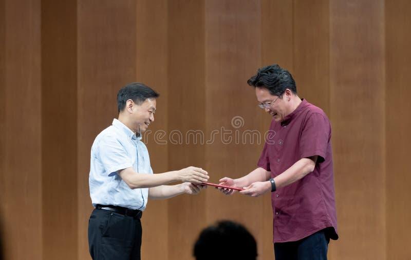 Встреча к представлению профессоров 3-Teaching танца Ча-рудоразборки в южном Цзянси стоковые фотографии rf