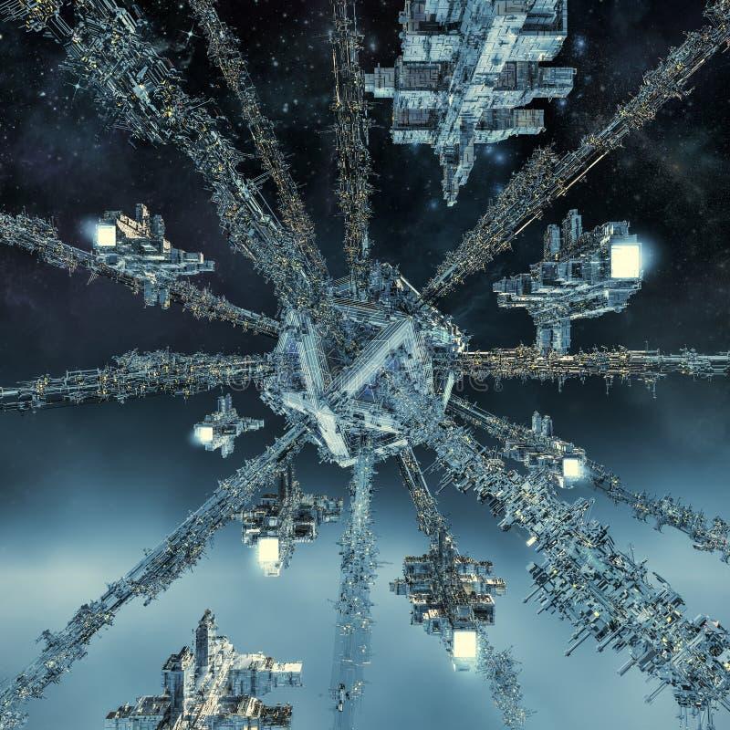 Встреча дока космоса бесплатная иллюстрация