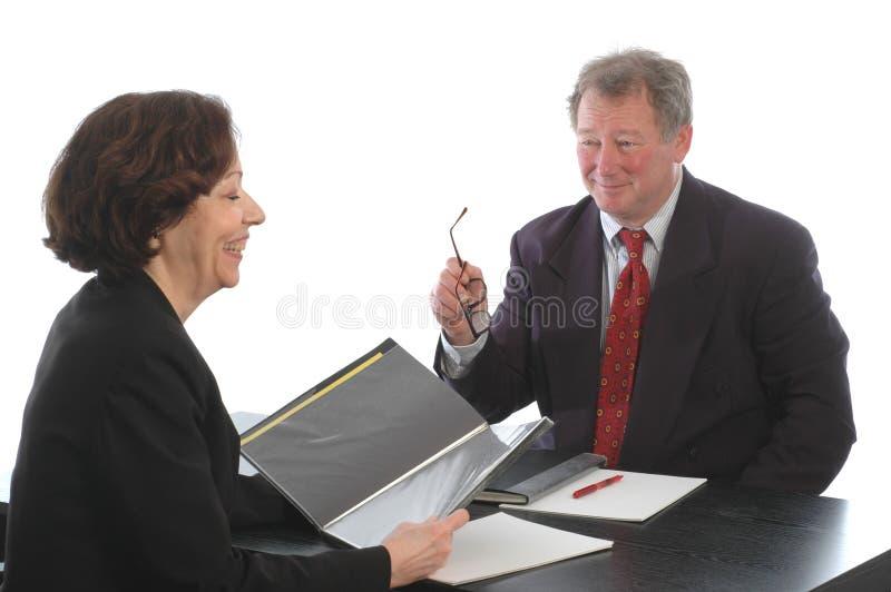встреча руководителя бизнеса стоковая фотография