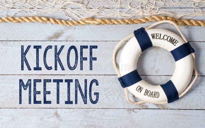 Встреча Kickoff - гостеприимсво на борту стоковые изображения