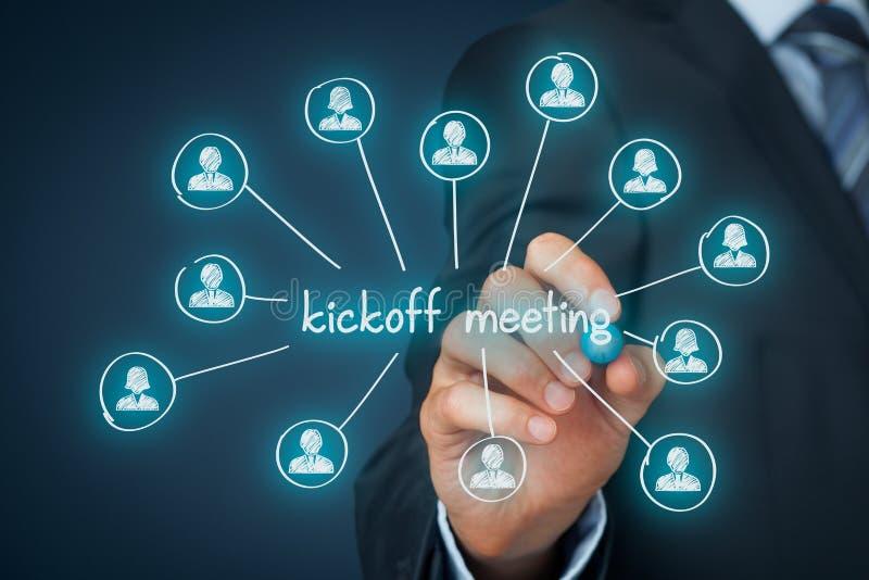 Встреча Kickoff стоковое изображение