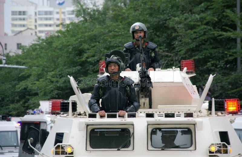 Встреча Urumqi воинская о Анти--терроризме стоковая фотография
