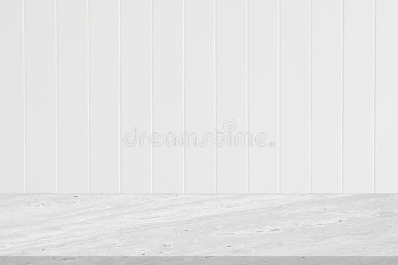 Встречный верхний белый мраморный камень с линией дизайном белого паза стены деревянного вертикальной цвета брызг текстуры белым  стоковые изображения rf