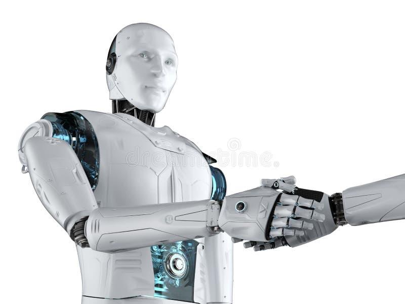 Встряхивание руки робота иллюстрация вектора