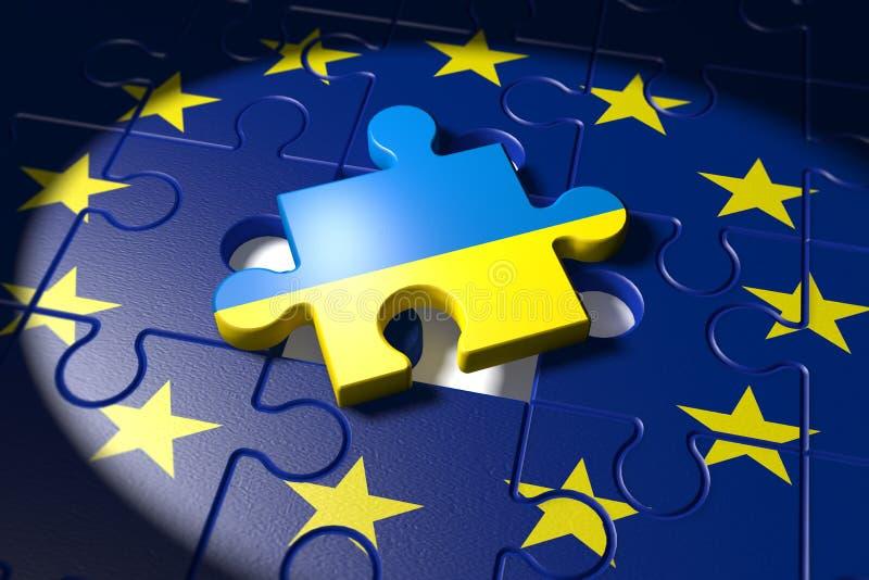 Вступительные переговоры между EC и Украиной бесплатная иллюстрация