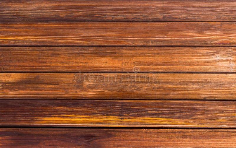 Всходит на борт предпосылки орехового коричневого цвета тона естественной, картины горизонтальных прямых текстуры деревянной стоковая фотография rf