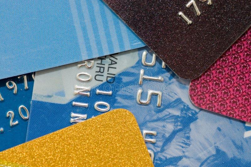 всход макроса кредита карточки стоковое изображение rf