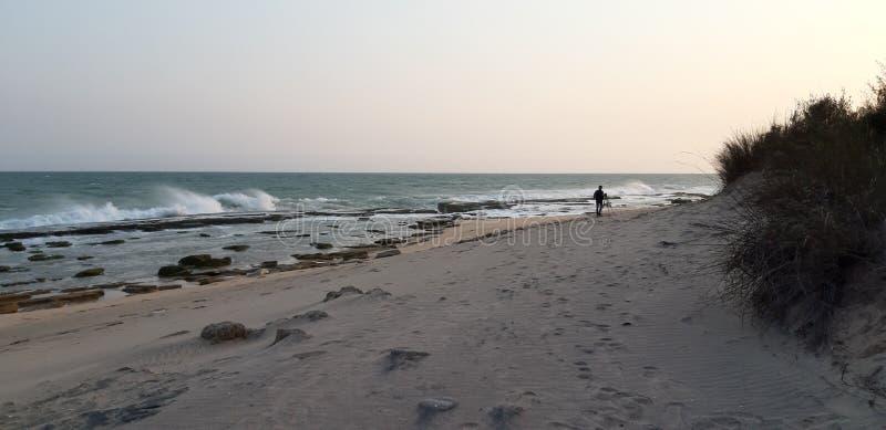 Всход kanyakumari kovalam пункта захода солнца стоковая фотография rf