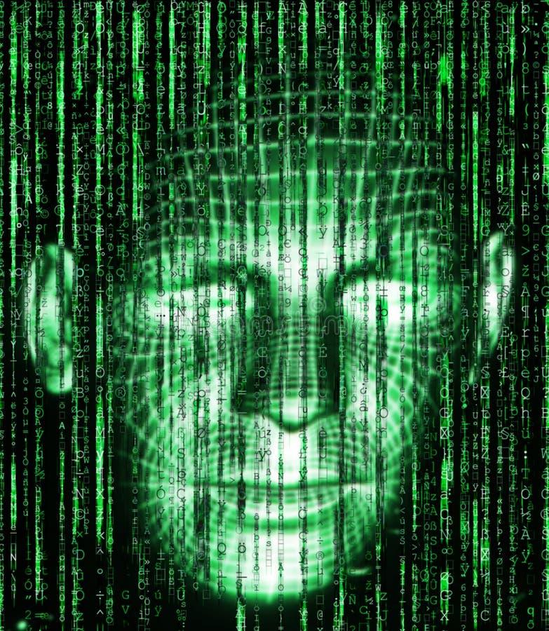 Всход матрицы Background стоковые изображения rf