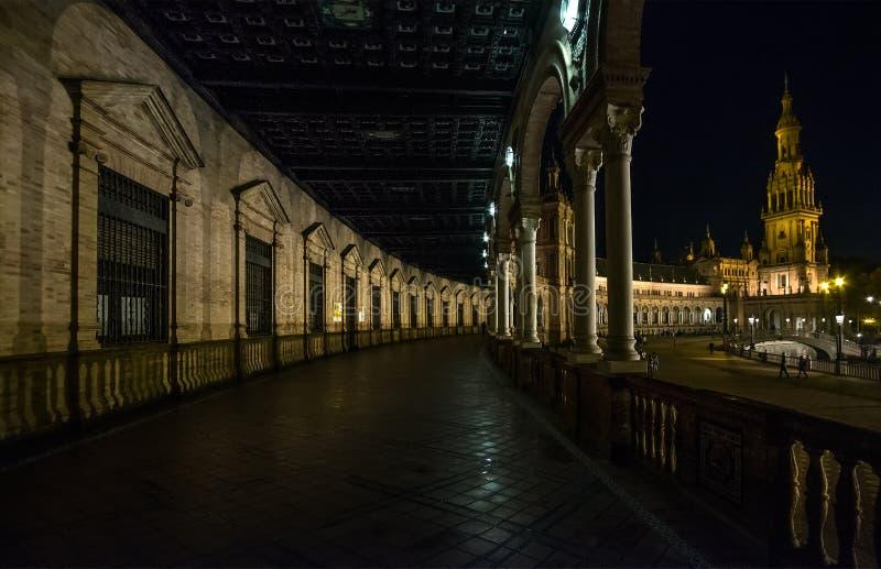 Всю ночь в Севилье анданте Испания стоковое фото rf