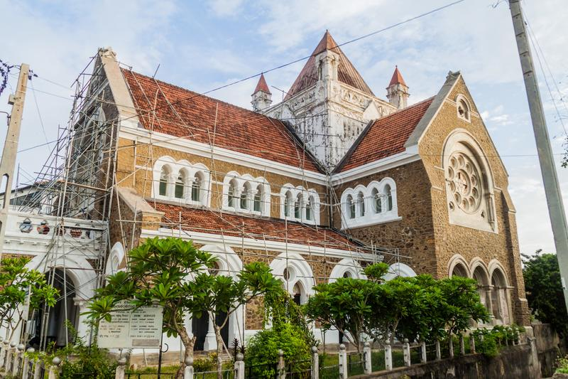 Вся Англиканская церковь Святых в Галле, Lan Sri стоковые изображения rf