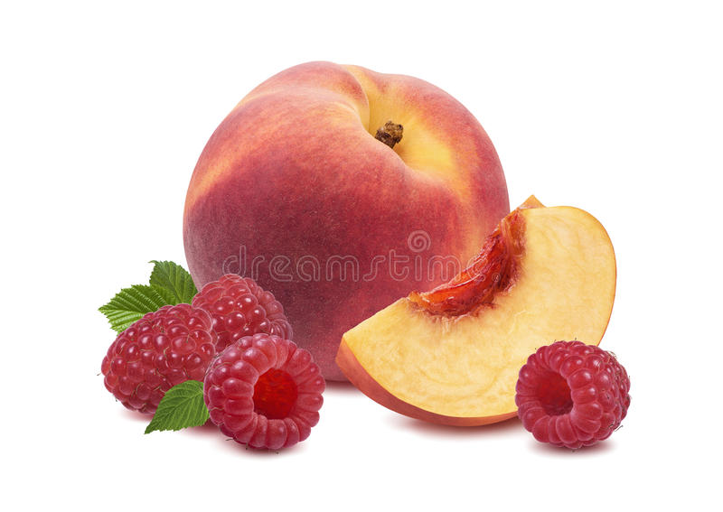 Вся поленика плодоовощ персика изолированная на белой предпосылке стоковое фото