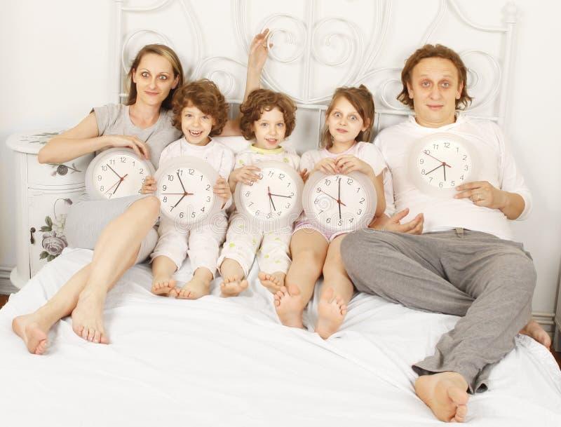 Вся семья совместно стоковая фотография rf