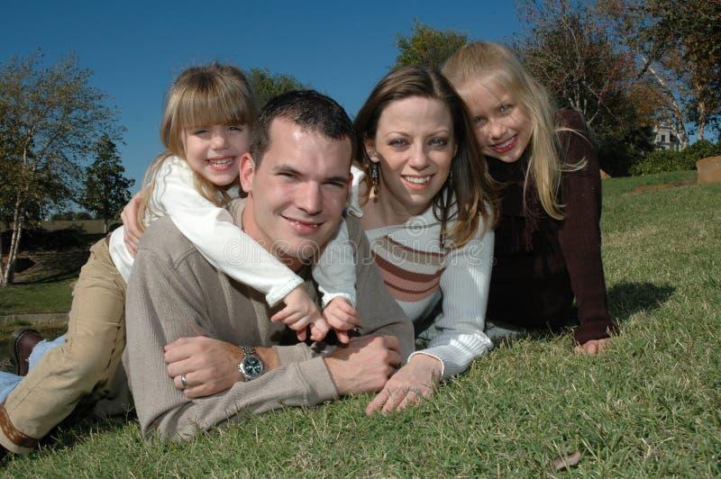 вся семья стоковое изображение