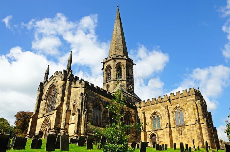 Вся церковь Святых, Bakewell стоковая фотография rf