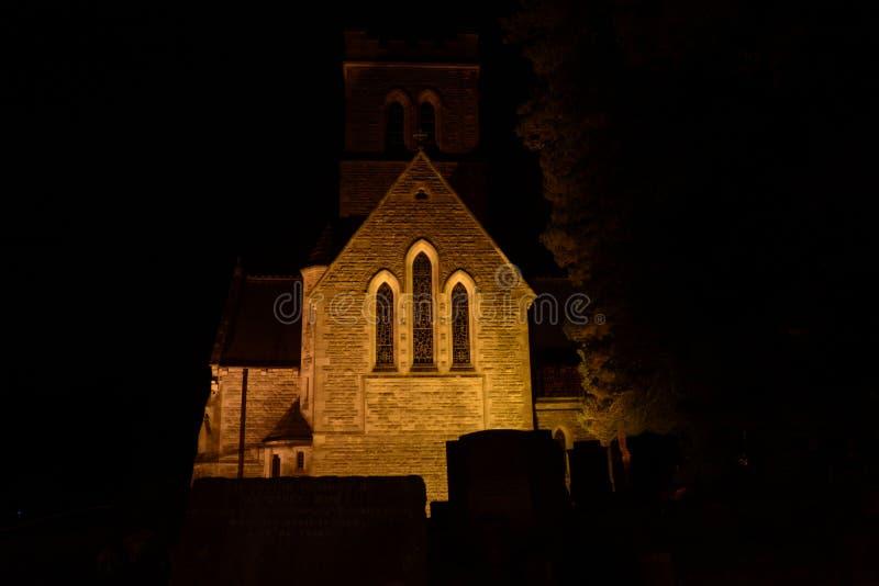 Вся церковь Святых floodlit на ноче стоковое изображение rf