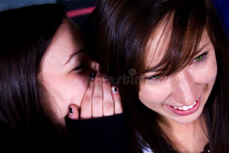 втихомолку шептать подростков стоковая фотография rf