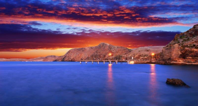 вторая долина захода солнца стоковая фотография