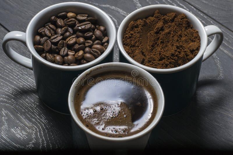 Втройне кофе смешивания стоковое фото