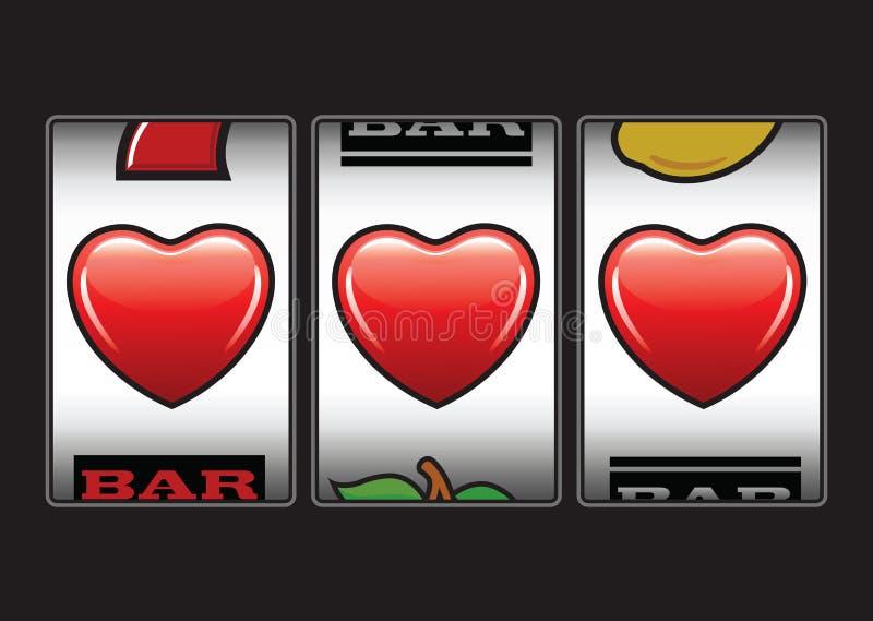 Втройне торговых автоматов сердец иллюстрация штока