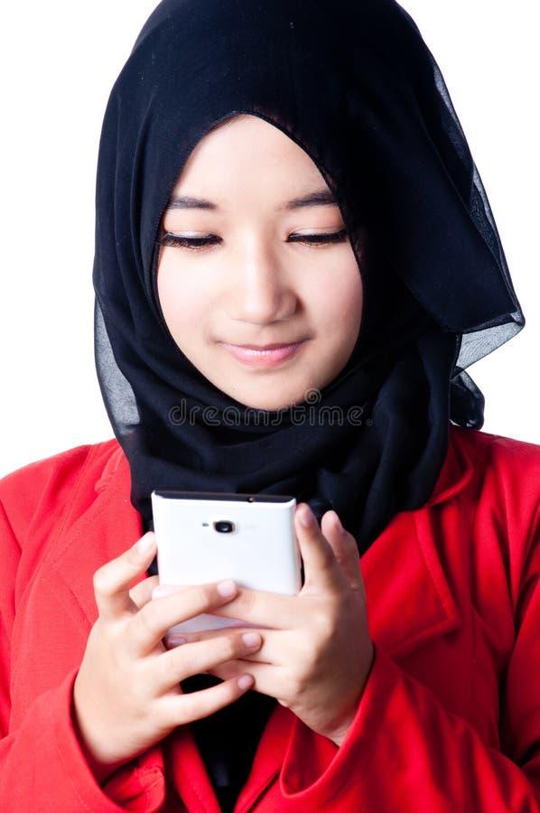 Вуаль женщины страны Индонезии стоковая фотография