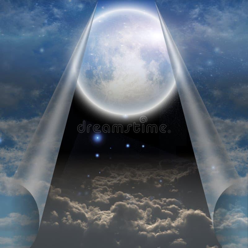 Вуаль открытого вытягиванное небом иллюстрация штока