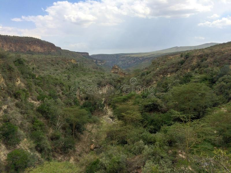 Вулканический кратер на Hell' национальный парк строба s, Кения стоковое изображение