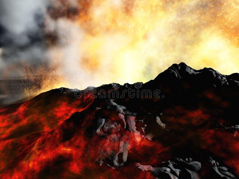 Вулканическое извержение бесплатная иллюстрация