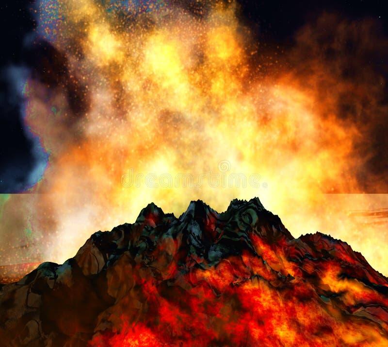 Вулканическое извержение стоковое фото