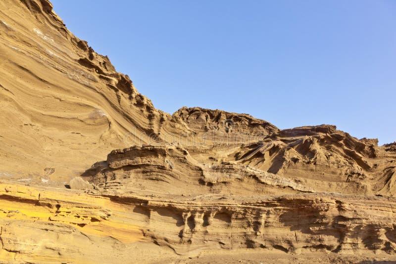 Вулканическое каменное образование на El Golfo, острове Лансароте стоковое изображение rf